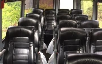 Interiør i 16 pers. minibus